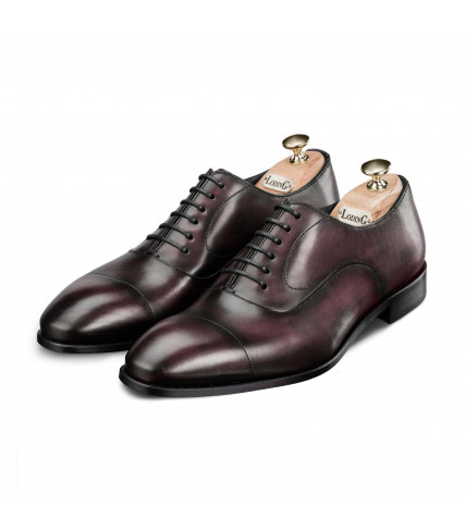 Patinated straight toe-cap Oxford Bolsano 320