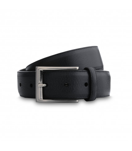 Burgundy grained leather belt